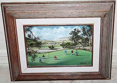 "Beautiful Painting Called ""A Day of Golf!"" by Mary Ann Rugh Baker"