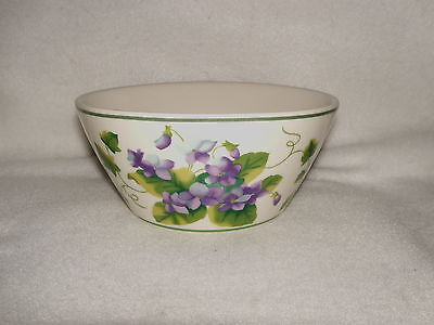 """Waverly Garden Room  *Sweet Violet* 5.75"""" Soup/Cereal Bowl  Columbia **MINTY**"""