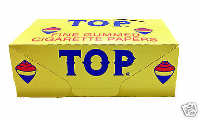 TOP FINE GUMMED CIGARETTE ROLLING PAPERS 24 BOOKLETS Brand New & Sealed
