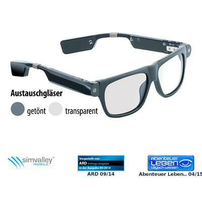 Brille, Bluetooth: Smart Glasses SG-100.bt mit Bluetooth und 720p HD