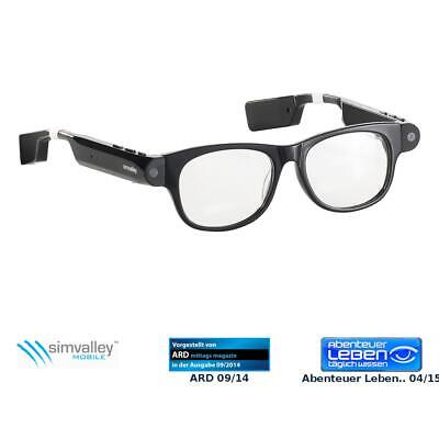 simvalley MOBILE Smart Glasses SG-101.bt mit Bluetooth und 720p HD