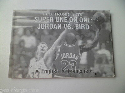 MEGA DRIVE GENESIS SUPER ONE ON ONE JORDAN Vs BIRD RARE! MANUAL INSTRUCTIONS