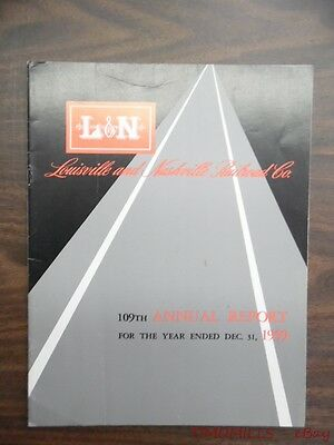 1959 Louisville & Nashville Railroad Company Annual Report Vintage Original