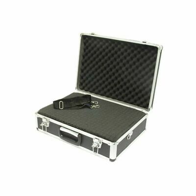 Large Black Aluminum Hard Tool Case - 18.1 x 13 x 6 inches Internal Foam Block