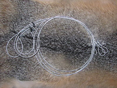 "6 Survival Snare good for mink/rabbit size 36""x 1/16(trapping,traps,snares)"