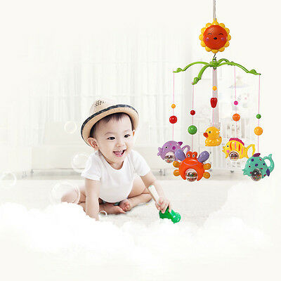 Baby Crib Bell Mobile Wind-up Music Box Cute Bed Toy Cartoon Gift Nursery