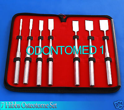 7 Hibbs Osteotome Set Orthopedic Surgical Instruments
