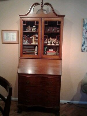Secretary Library Hutch Desk Claw Foot Late 1940's (Over 70 years old)