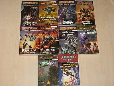 Sammlung 10 Science-Fiction Bücher  9 X CLASSIC BATTLETECH & 1 X CRIMSON SKIES