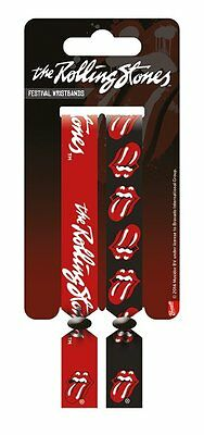 Rolling Stones Pack Of 2 Fabric Festival Wristbands BY PYRAMID FWR68007