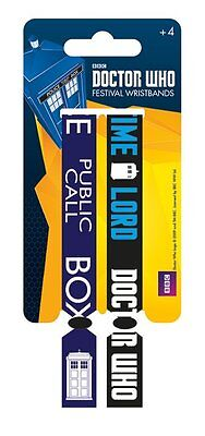 Doctor Who (Call Box) Pack Of 2 Fabric Festival Wristbands BY PYRAMID FWR68005