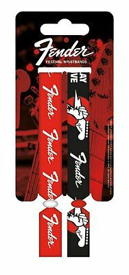Fender Pack Of 2 Fabric Festival Wristbands BY PYRAMID FWR680010