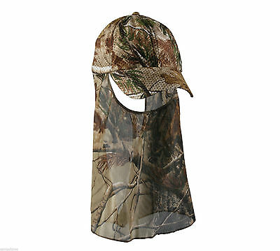 Cap - Air Mesh Hunting Hat With Facemask Realtree Apg Camo 203N-R3601A