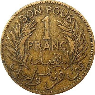 Tunisia bon pour 1 franc 1921 1340 KM#247 french colony, First year type (1252)