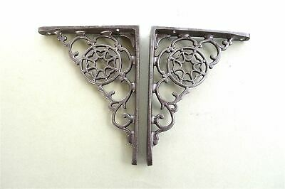 A Pair Of Small Antique Style Cobweb Shelf Brackets Iron Shelving Bracket S2