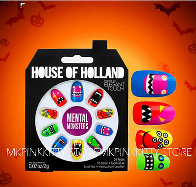 House Of Holland Nails By Elegant Touch -  MENTAL MONSTERS     NEW