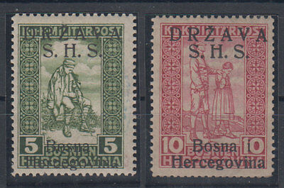Bosnia and Herzegovina Mi#19/20 1918 MH *