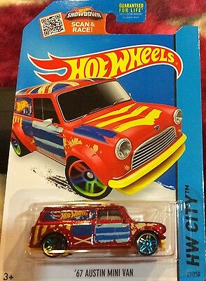 2015 HOT WHEELS HW CITY '67 AUSTIN MINI VAN 27/250