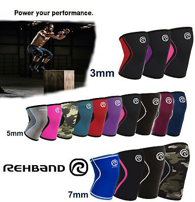 Rehband CrossFit Knee Support REHBAND 3mm 5mm 7mm Weightlifting Powerlifting
