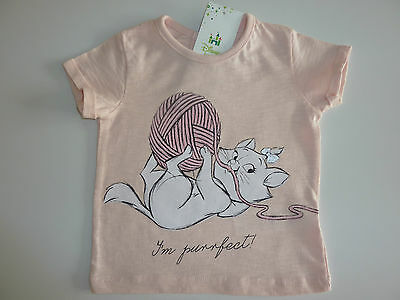 DISNEY Really Cute ARISTOCATS MARIE 'I'm Purrfect!' Pink T-Shirt NWT