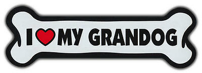 GIANT SIZE!!! Dog Bone Magnet: I Love My Grandog | Cars, Trucks, Refrigerators