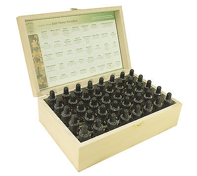 Komplett Set of 25ml Bachblütentherapie in Holz Box
