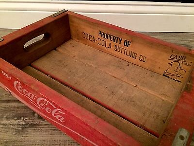 (#69) Vintage Red Coke Coca Cola Wood Soda Pop Case Crate Nice Graohics!