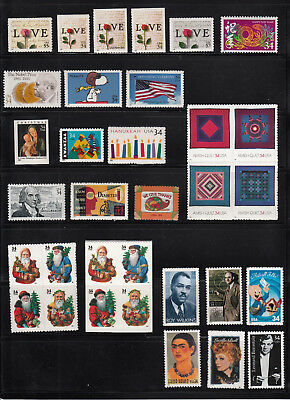 2001 Us  Commemorative Year Set 47 Stamps Mint Nh