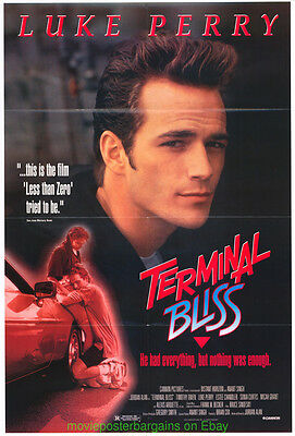 TERMINAL BLISS MOVIE POSTER Original 27x40 Folded One Sheet LUKE PERRY