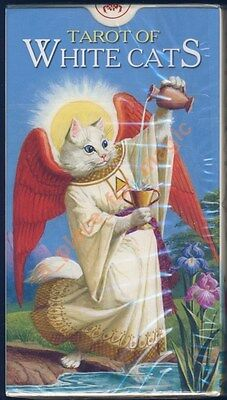 NEW Tarot of White Cats Deck Cards Lo Scarabeo