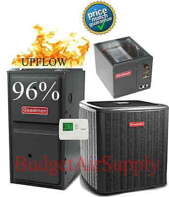 5 TON GOODMAN 18 seer 2 STAGE 96% 120k Gas Furnace