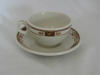 Vintage Syracuse China Syralite Restaurant Ware WEBSTER Cup & Saucer 92-1  U.S.A
