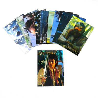 2001 Topps The Lord of the Rings Fellowship of the Ring Foil Card Set (10) Nm/Mt