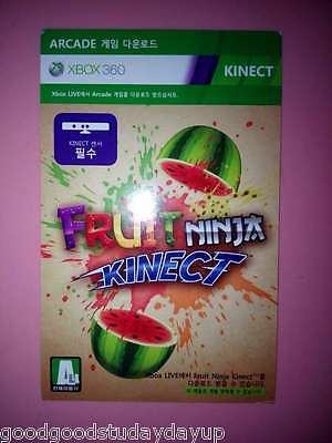 Fruit Ninja for  Xbox 360 Kinect Download Card Region Free Not Disc Version