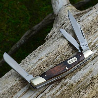 Buck Trio 3 Blade Wood Grain Pocket Knife 373BRW