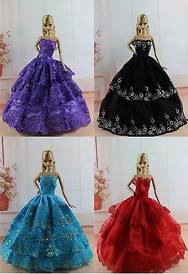 Handmade 4 PCS Fashion Princess Pary Dress/Clothes/Gown For 11.5in.Doll S182