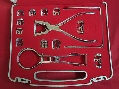 Dental Dentist Rubber Dam Kit of 13 Pieces Dental Surgical Instruments Set