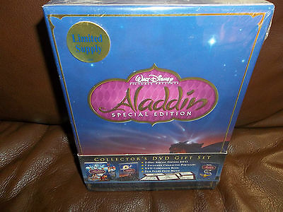 Aladdin (DVD, 2004, 2-Disc Set, Special Edition - Gift Set) BRAND NEW!! FACTORY