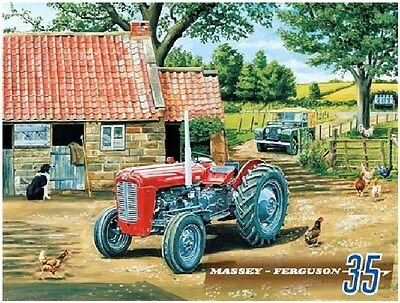 Massey Ferguson 35 steel fridge magnet   (og)