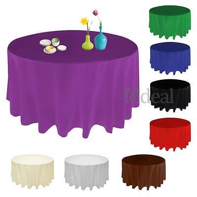 90 Inch Round Satin Tablecloth Table Cover Wedding Party Restaurant Banquet