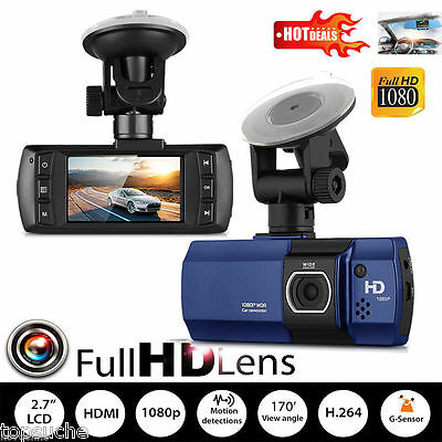 2.7'' HD Dash Cam 1080P Car DVR Digital Dual Video Camera Recorder Night Vision
