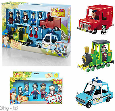 Postman Pat Playset Post Van Vehicle Police Car Greendale Rocket Figures NEW