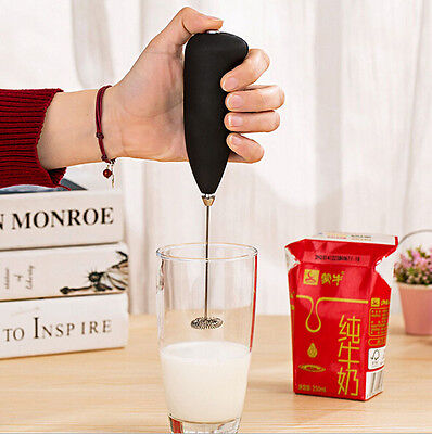 Style Electric Handle Coffee Milk Egg Beater Whisk Frother Tool Mixer Foamer A