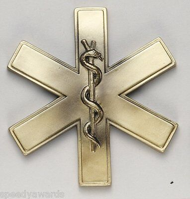 EMT Relief - Star Of Life Cast Resin - Plaque - SPEEDY Shipping