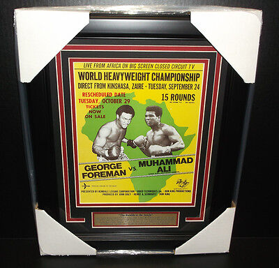 Muhammad Ali The rumble in the jungle George Foreman 8x10 PHOTO 11x14 Framed