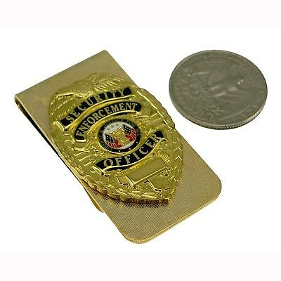 Security Enforcement Officer SEO mini Badge Money Clip Gold NEW