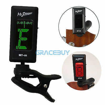 Clip on Guitar Tune rChromatic Electronic LCD 360° Bass Violin Ukulele Tuner