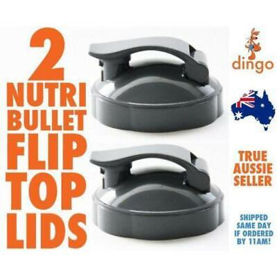 2 NUTRIBULLET FLIP TOP Fliptop Fresh LID - ALL 600 & 900 Model Nutri Bullet Cups