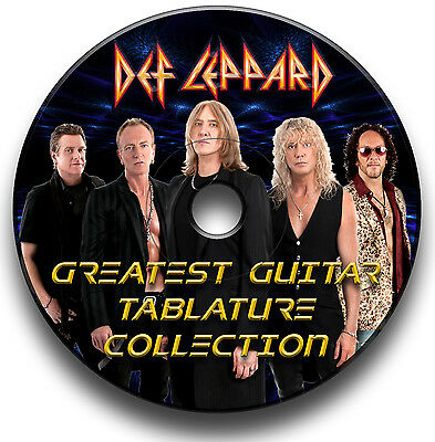 Def Leppard Heavy Metal Rock Guitar Tabs Tablature Song Book Software Cd