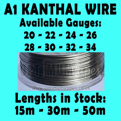 Kanthal A1 Wire in 0.16mm 0.20mm 0.25mm 0.32mm 0.40mm 0.51mm 0.64mm 0.81mm